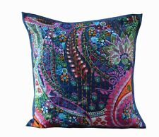 "Paisley Printed Indian Cotton Ethnic Square Pillow Cover Throw 16"" Cushion Cover"