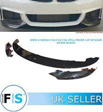 BMW 4 SERIES F32 F33 F36 FRONT DIFFUSER SPLITTER 3 PCs LIP SPOILER GLOSS BLACK