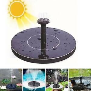 Outdoor Solar Powered Floating Bird Bath Water Fountain Pump Garden Pond Pool uS