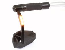 Extremos manillar espejo victory con intermitente de LED negro anodizado, e-Revisado 301-028