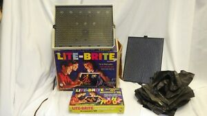 Vintage 1967 Hasbro Lite-Brite Light Bright & Alphabet Set Accessory Kit w/ Box