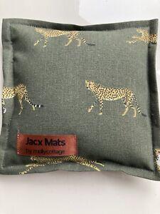 "Jacx Mats Needle felting mat in SA Cheetah Hessian & Rice Filled 8""x 8"""
