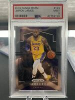 2019-20 Panini Prizm Lebron James Base No. 129 PSA 9 Mint Lakers MVP🔥📈📈repeat
