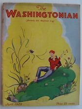Rare The Washingtonian Magazine Art Deco Cover by Russell dated April 1929