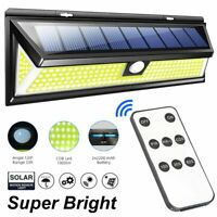 Remote 180 COB LED Solar Wall Light Outdoor Garden Security Lamp Motion Sensor
