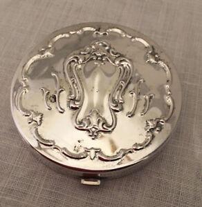 GORHAM 1863-C Silverplate Mirror Compact w/ Powder Insert
