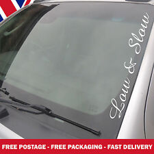 Low And Slow Windscreen Sticker, Vauxhall VW Ford DUB BMW  Large Decals AM10