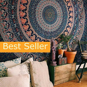 Tapestry Bohemian Mandala Floral Tapestry WallHanging Hippie Wall Art Bedspread