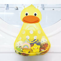 Baby Kid Bath Time Toy Hanging Storage Bag Mesh Bathroom Organizer Basket#Duck