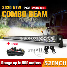"52""inch 2400W LED Light Bar DRL Combo Offroad for Jeep Ford Truck 4WD + Wiring"
