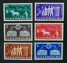 CKStamps: Luxembourg Stamps Collection Scott#272-277 Mint H OG