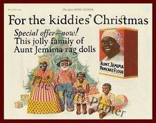 Black Americana MAGNET - AUNT JEMIMA PANCAKE FLOUR  - Christmas1924 Magazine AD