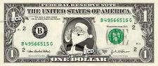 SANTA CLAUS on REAL Dollar Bill Cash Money St Nicholas Currency Merry Christmas