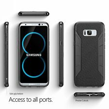 Poetic Karbon Black Case [Carbon Fiber Texture] For Galaxy S8 Plus Case