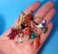 "1940's 10 Figural Charms/Prizes Lampwork&Celluloid Kewpie Gumball""Cracker Jack""?"