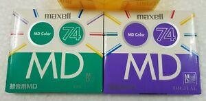 MAXELL 74 2 minidiscs new/sealed
