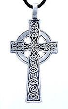 Nr.11 Keltenkreuz Anhänger Zinn inkl. Band Pewter Kreuz Kelten keltisch Radkreuz