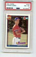 Topps PSA 8 1991 Chipper Jones Atlanta Braves #333 Rookie