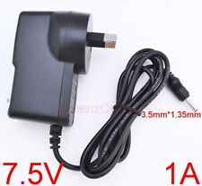 AC 100V-240V Converter Adapter DC 7.5V 1A Power Supply 1000mA AU 3.5mm x 1.35mm