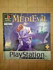 MEDIEVIL - PLATINUM ~ Instruction Manual / Booklet ~ PAL UK PlayStation 1 ~