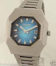 Citizen acero inoxidable señores reloj pulsera cal. 6000 - 1970er años kultuhr 70ies Design