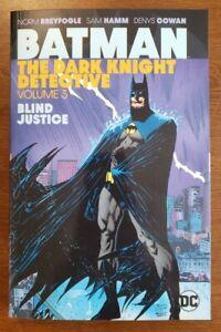 Batman Dark Knight Detective Vol 3 Blind Justice NEW Unread DC Comics OOP HTF