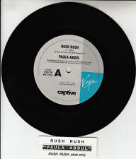 "PAULA ABDUL Rush Rush 7"" 45 rpm vinyl record BRAND NEW + juke box title strip"
