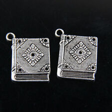 25pcs Tibetan Silver Book Charms For Jewelry Making 26.5mm