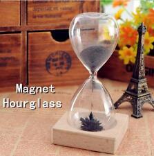 Magnetic Timer Sand  Desktop Hourglass Filled iron Filings Decoration XG