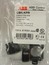 Momentary Pushbutton, 22mm, Red, CBK-KPR, 1SFA616001-AAA lot of 6 $24. ($4ea).
