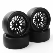 PP0477+BBNK Drift Tires WheelRim  F HSP HPI RC 1:10On Road Car 12mm Hex 4PCS