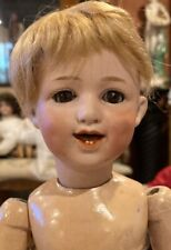 "Antique 13"" German Bisque Gebruder Heubach RARE Mold #5636 Smiling Doll"