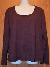 Womens Pretty Purple George Long Sleeve Shirt Size XL 16 18 excellent