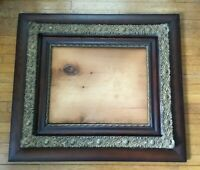 """*Antique Oak & Gesso Picture Frame 33 1/2"""" x 29 1/2"""" overall  ** NO GLASS **"""