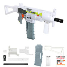 Worker MOD F10555 MP5K PWD Imitation Kit 3D Print White Combo for Nerf STRYFE