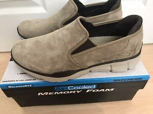 BNIB MENS RELAXED FIT AIR COOLED MEMORY FOAM LEATHER SUEDE SHOES SIZE UK 8 27CM