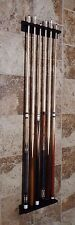 Billiard Scarface Collectible Six Cue Wall Rack Red/Black and Green Screws Incl.