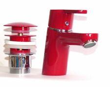 Kludi Waschbecken-Armatur-Einhebelmischer LOGO NEO 373820575 rot/chrom mit PopUp
