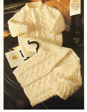 Baby Child Cardigan Aran Knitting Pattern 99p