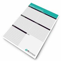 Monster A4 Weekly Planner - Things To Do Today - Desk Schedule - To Do Pad