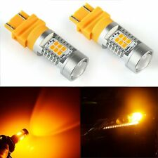 2x 3157 PX 21-SMD Amber Yellow Turn Signal LED Lights Bulb 3457 3057 3047 4157