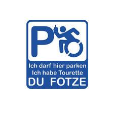 Tuning Auto Sticker Rollstuhl Tourette Fotze Fun Humor 12x10cm Aufkleber #A559
