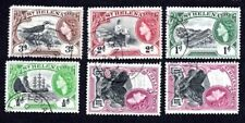 St. Helena 1953 set of stamps Mi#123-126,128 used