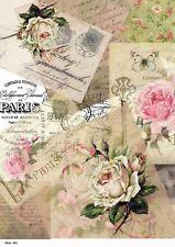 Rice paper decoupage 0882 napkin vintage postcards supplies craft scrapbooking