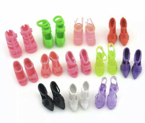 Packet Of 10 Dolls Shoes Mixed Heels/shoes Suitable For dolls