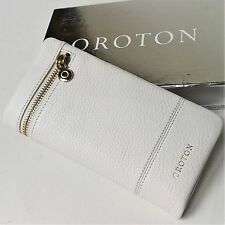 New OROTON Bueno Soft Fold Wallet Purse Clutch Leather Gloss White RRP$225