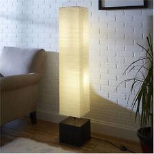 "Modern 58"" Square Rice Paper Floor Lamp Wood Finish Living Room Office Decor New"