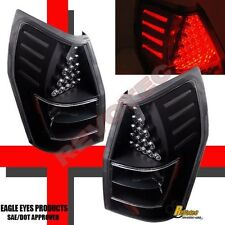 05 06 07 08 Dodge Magnum R/T SE SRT8 SXT Black LED Tail Lights Lamps 1 Pair