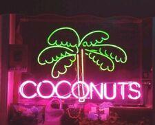 COCONUTS NEON LIGHT GLASS SIGN/LAMP UK - Neon Custom Made