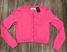 Abercrombie & Fitch Kids Girls Knit Sweater Cardigan Pink Size Med/12 NWT